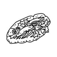 Socca Icon. Doodle Hand Drawn or Outline Icon Style vector