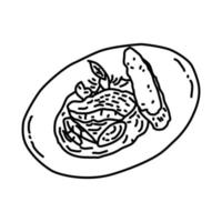 Steak Tartare Icon. Doodle Hand Drawn or Outline Icon Style vector