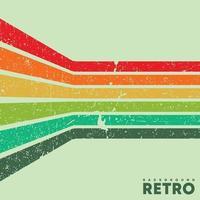 Vintage grunge texture background with color retro stripes. Vector illustration