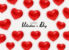 Valentine's Day Background Design with Hearts. Template for advertising, web, social media and fashion ads. Poster, flyer, greeting card. Vector Illustration
