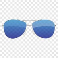 icono de gafas de sol realista aislado ilustración vectorial vector