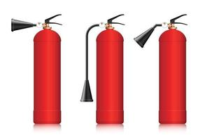 Fire extinguishers vector illustration isolated on white