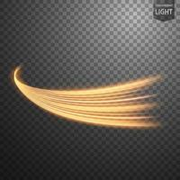 Abstract gold wavy line of light with a dark background vector