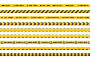 cinta de precaución con rayas amarillas y negras vector
