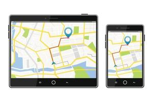 GPS satellite navigation system on screen vector