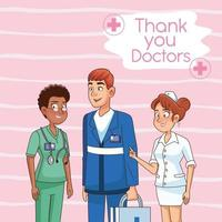 vector de personajes médicos diversos
