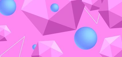 Vector abstract background with geometric shapes.