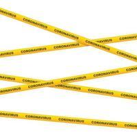 Coronavirus caution tape vector illustration