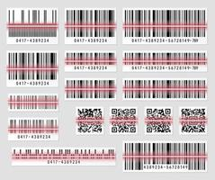 Set of product barcode and qr code vector illustration