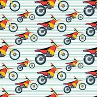 pista, motocicleta, seamless, patrón, vector, ilustración vector