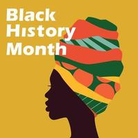 National Black History Month. Holiday concept. Template for background, banner, card, poster with text inscription. Vector illustration