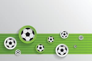 Balón de fútbol con fondo de patrón de campo de fútbol vector
