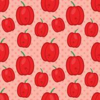 red pepper seamless pattern vector illustration in flat style