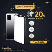 Special promotion Smartphone Social post vector