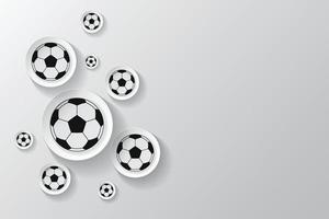 Soccer ball with soccer field pattern background vector