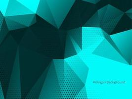 Modern blue color polygon geometric design background vector