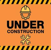 Building under Construction site, vector design
