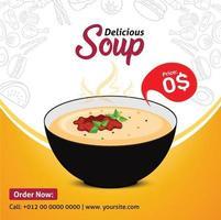 publicación de medios de vista previa de sopa vector