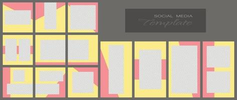 Social media banner template. Editable mockup for stories, personal blog, layout for promotion. vector