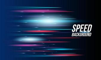 Abstract background technology high speed racing for sports of long exposure light on black