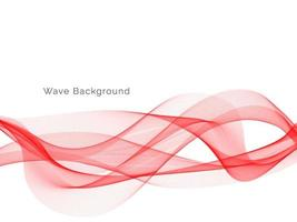 Fondo de diseño de onda de humo de color rojo moderno vector
