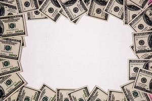marco de billetes de dólar foto