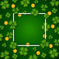 Clover and Coins with White Frame vector