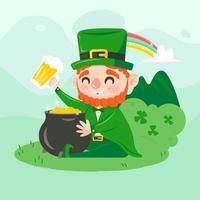 Illustration of Leprechaun on Saint Patrick's Day vector