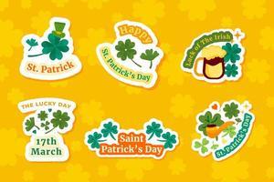 St. Patrick's Day Clover Sticker Set Collection