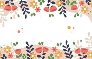 Flat Colorful Floral Background vector