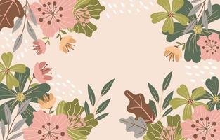 Beautiful Blooming Flowers Floral Background vector