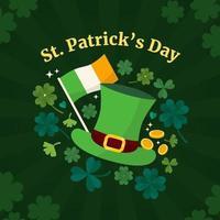 St. Patrick's Day Clover Shamrock Background