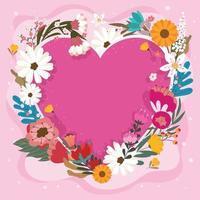 hermosas flores de san valentin vector