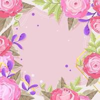 Beautiful Pink Roses Background vector