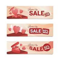 Valentine Day Sale Banner vector