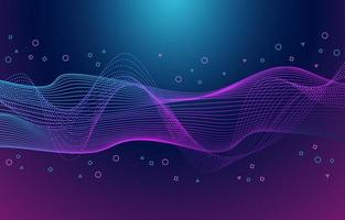 Abstract Dynamic Geometric Wave Background vector