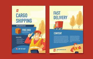 The Hospitality of Cargo Delivery Services vector