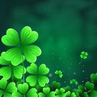 Shamrock Leaves with Abstract Bokeh vector