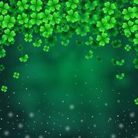 Fallen Leaves Shamrock with Sparkles Underneath vector
