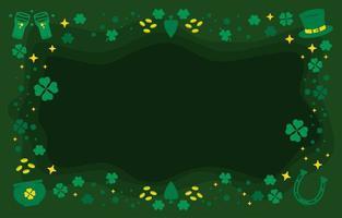 Flat Iconic Shamrock Background vector
