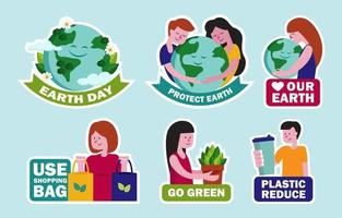 Earth Day Sticker Set