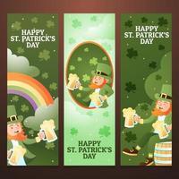 Happy Leprechaun Banners Collection vector