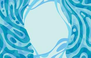Waterfall Flat Background vector