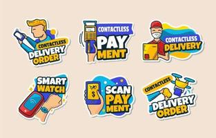 Contactless Technology Sticker Collection