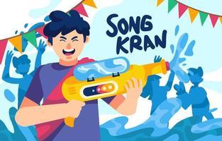 Songkran Festival Water Canon vector