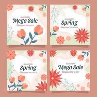Spring Mega Sale Card vector