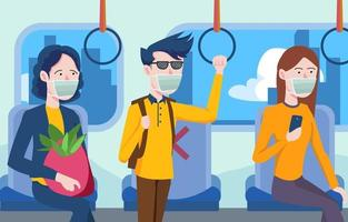 Social Distancing in Commuter