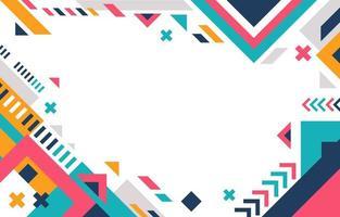 fondo plano colorido creativo vector