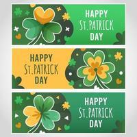Clover St.Patrick day banner vector