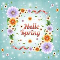 colorido y hermoso concepto floral de primavera vector